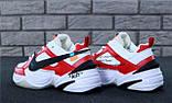 Кроссовки мужские Nike M2K Tekno x Off-White 30968 красно-белые, фото 9