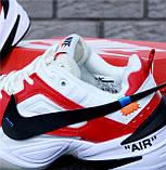 Кроссовки мужские Nike M2K Tekno x Off-White 30968 красно-белые, фото 10