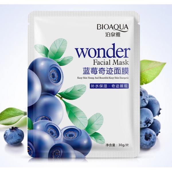 Тканевая маска для лица BioAqua Wonder Facial Maskс экстрактом черники 30g