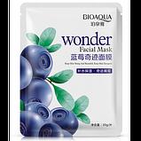 Тканевая маска для лица BioAqua Wonder Facial Maskс экстрактом черники 30g, фото 2
