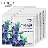 Тканевая маска для лица BioAqua Wonder Facial Maskс экстрактом черники 30g, фото 6