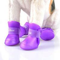 Ботиночки-непромокайки силиконовые (прорезиненные) для кошек и собак (размер XL - XXL)