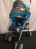 Детская коляска-трость BAMBI M 2105-1B (Голубая) с футкавером