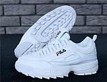 Кроссовки женские FILA Disruptor II FUR 30965 белые, фото 10