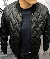 Куртка мужская Philipp Plein D5203 черная, фото 1