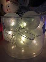 Гирлянда 12LED перламутровый шарик