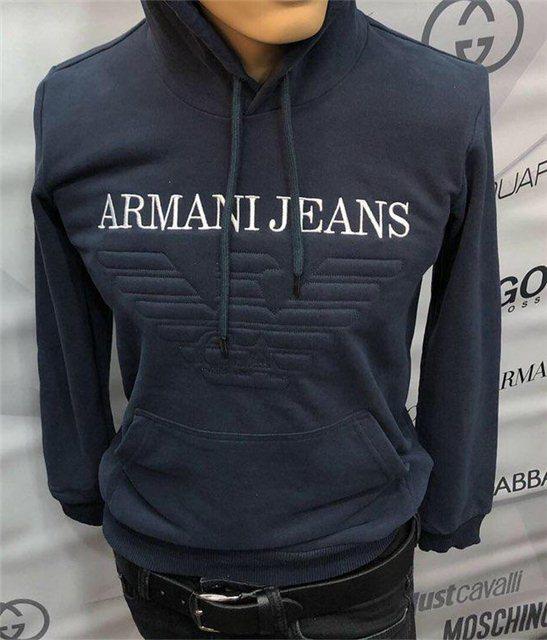 Кофта мужская Armani Jeans D5211 темно-синяя - купить по лучшей цене ... 3cd4f1ec75e