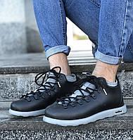 Ботинки мужские зимние черные легкие теплые каучуковые морозоустойчивые непромокаемые Native Fitzsimmons Натив