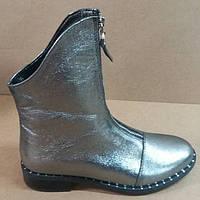 Ботинки зима из натуральной кожи на низком ходу от производителя модель  РБ055 00dab7eff7398
