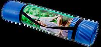 Коврик для йоги каучуковый NBR 10 мм темно-синий, фото 1