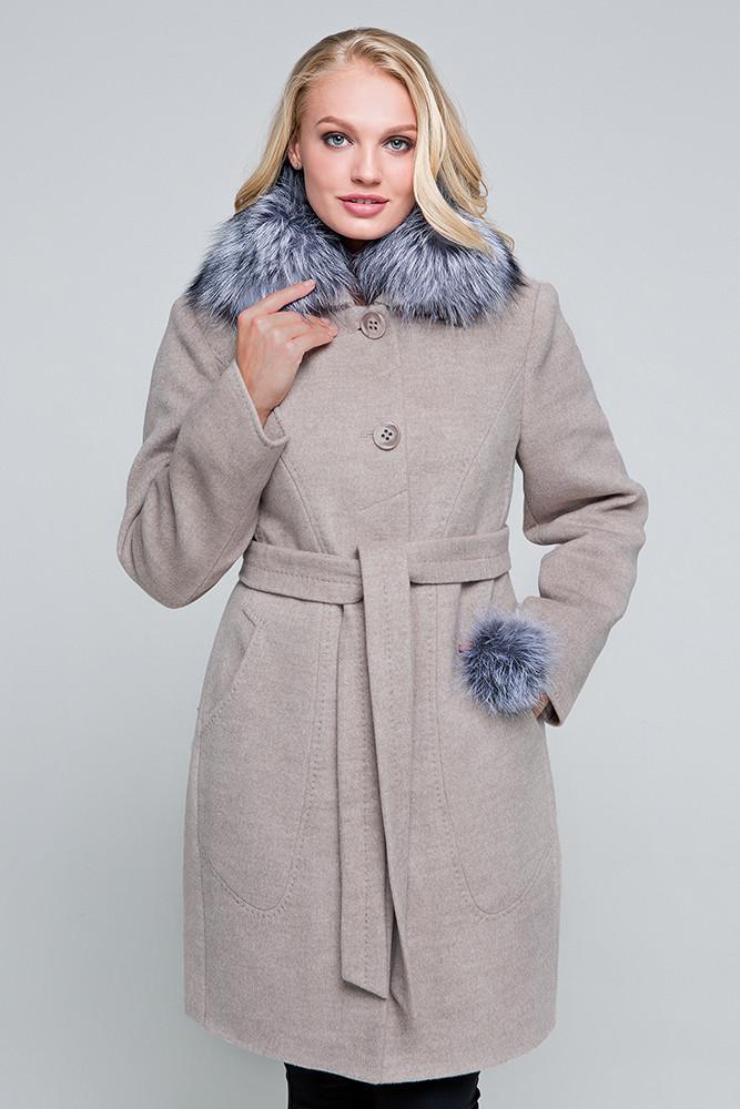 faf614efd41 Зимнее пальто «Надин» капучино - Интернет-магазин женской одежды