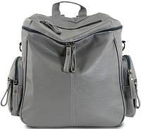 Сумка-рюкзак женская Traum 7229-84, искусственная кожа, 9 л, серый