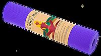 Коврик для йоги и фитнеса TPE 6 мм фиолетовый