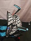 Детская коляска-трость BAMBI M 2719B (Голубая) с корзинкой, фото 7