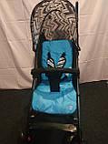 Детская коляска-трость BAMBI M 2719B (Голубая) с корзинкой, фото 6