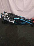 Детская коляска-трость BAMBI M 2719B (Голубая) с корзинкой, фото 5