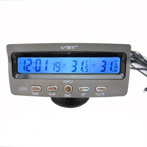 Автомобільні годинник з термометром VST 7045