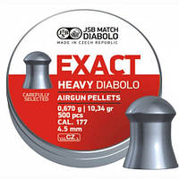 Пули пневматические JSB Exact Heavy Diabolo 0.670гр  4.5мм  500шт