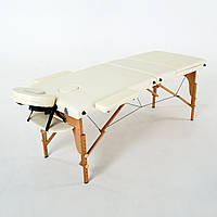 Массажный стол деревянный 3-х сегментный RelaxLine Barbados (светло-бежевый)
