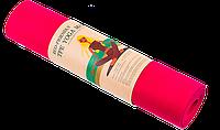 Коврик для йоги и фитнеса TPE 6 мм красный, фото 1