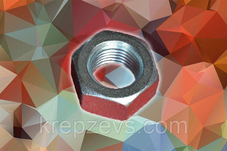 Гайка М20 DIN 934 с мелкой резьбой оцинкованная