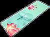 """Коврик для йоги замшевый Record двухслойный 3мм """"Спокойствие Лотоса"""" бирюзовый"""