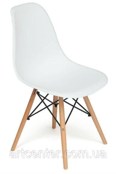 Стул для офиса, стул пластиковый для посетителей, стул для кафе (стул Тауэр Вуд белый)