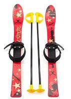 Набор лыжный детский MARMAT 90 см (лыжи +крепление+ палки) красный