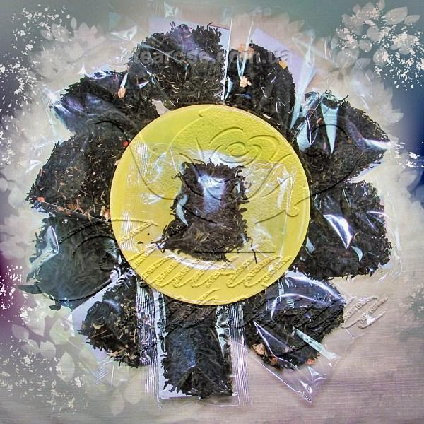 Комплект з 10 пакетиків по 10 г чорних чаїв + подарунок чай - новинки