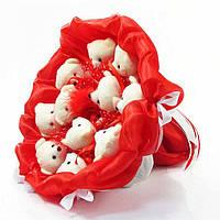 Букет из игрушек Мишки 11 красный 5281IT, фото 1