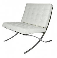 Дизайнерское мягкое кресло Барселона, белое