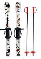 Набор лыжный детский MARMAT 90 см (лыжи +крепление+ палки) белый