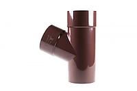 Трійник Profil 100/100/67 130 коричневий