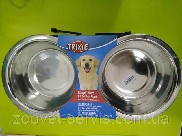 Миска стальная для собак TRIXIE1.8л24843, фото 2