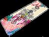 """Коврик для йоги джутовый Record двухслойный 3мм """"Чакры Акварель"""""""