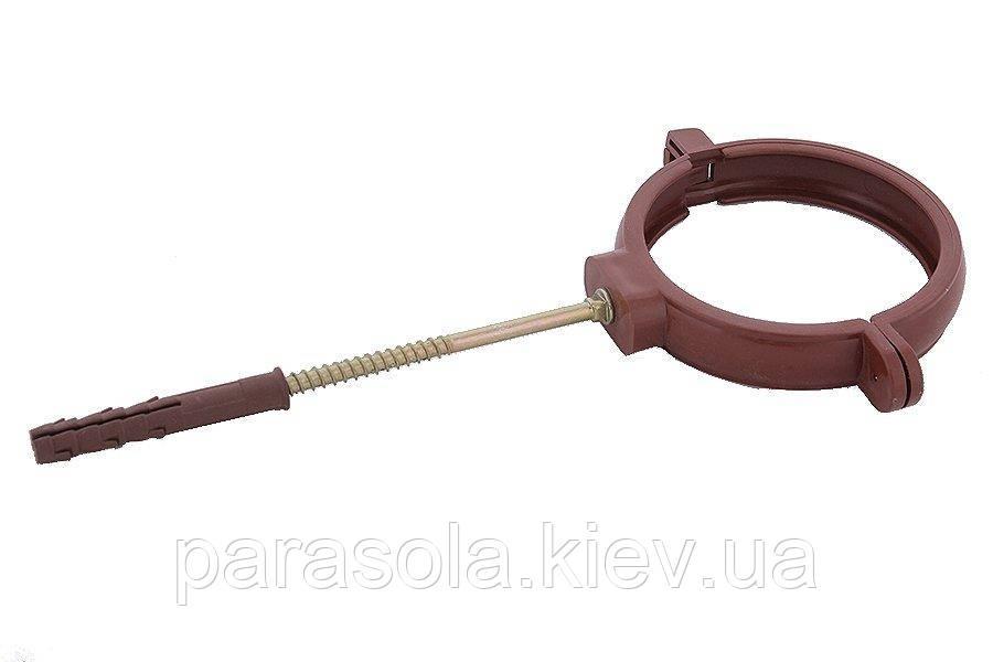 Держак труби Profil пласт. L100 90 коричневий