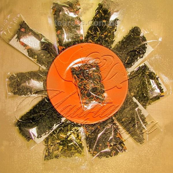 Комплект з 10 пакетиків по 10 г зелених чаїв