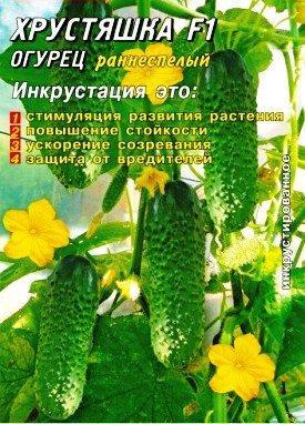 Семена огурцов пчелоопыляемых Хрустяшка F1 50 шт.