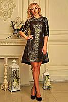 """Женское платье с напылением """"Эмине 09"""" (черное), фото 1"""