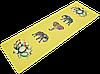 """Коврик для йоги джутовый Record двухслойный 3мм """"Слон и Лотос"""""""
