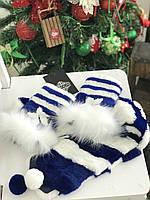 Комплект шарф+митенки из меха