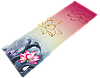 """Коврик для йоги джутовый Record двухслойный 3мм """"Лотос"""""""