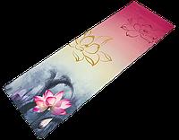 """Коврик для йоги джутовый Record двухслойный 3мм """"Лотос"""", фото 1"""