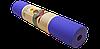 Коврик для йоги двухсторонний TPE 6 мм сливовый