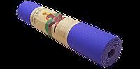 Коврик для йоги двухсторонний TPE 6 мм сливовый, фото 1