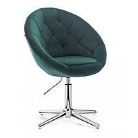 Кресло HROVE FORM 8516 бутылочный зеленый велюр