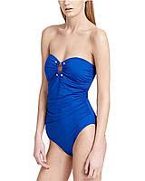 Женский синий сдельный купальник Calvin Klein