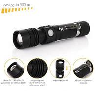 Фонарик ручной фонарь с USB XML T6 BL-518