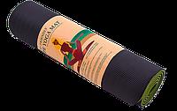 Коврик для йоги двухсторонний TPE 6 мм салатовый, фото 1