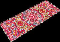 Коврик для йоги PVC+замша 3 мм розовый, фото 1